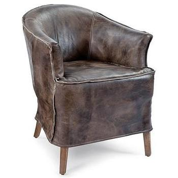 Cardiff Brown Leather Chair Chairs Amp Ottomans Cost