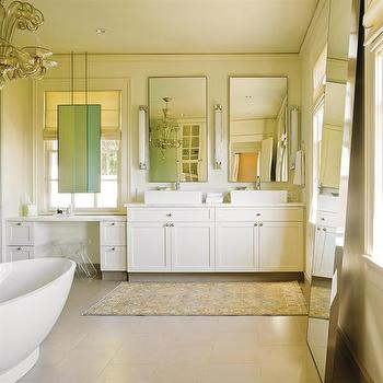 Mirror in Front of Window, Transitional, bathroom, NB Design Group