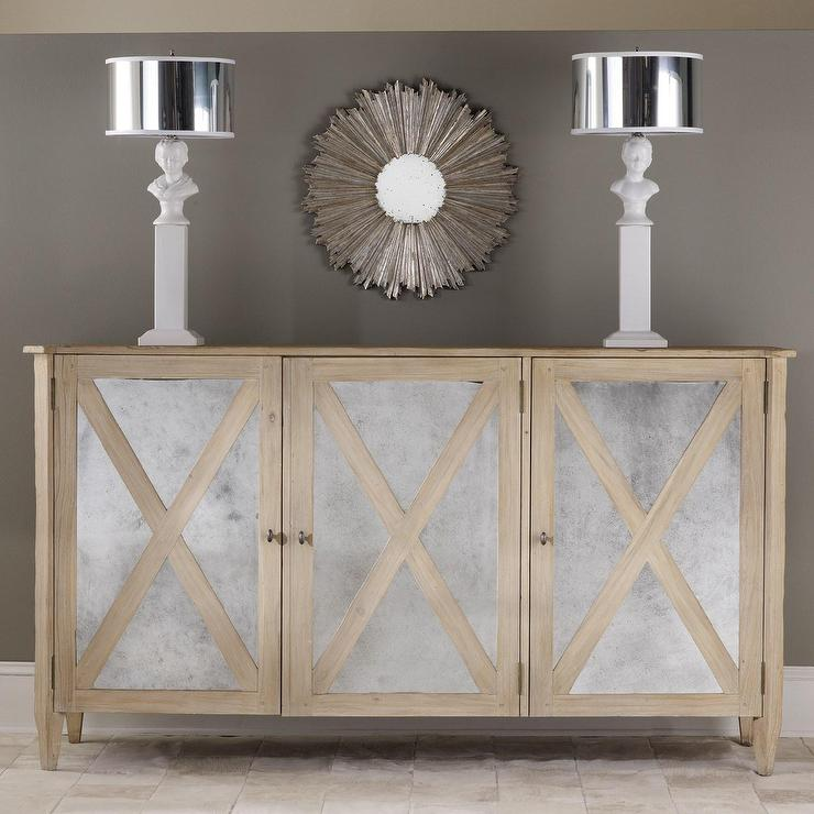mirrored three door cabinet i layla grayce