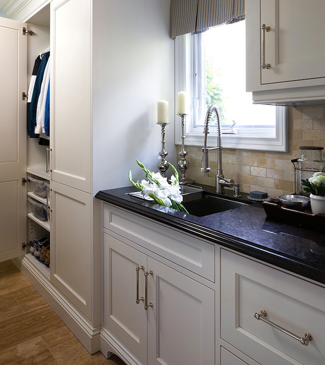 White Kitchen Cabinet Hardware: Mudroom Cabinets