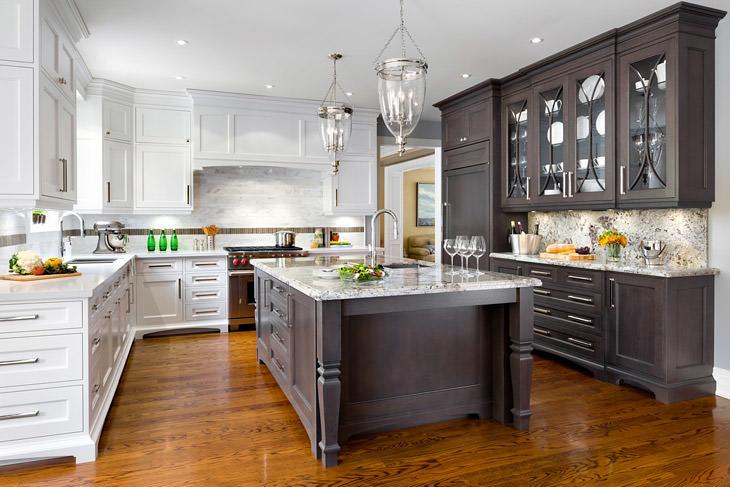 White granite countertops transitional kitchen for White kitchen designs 2013