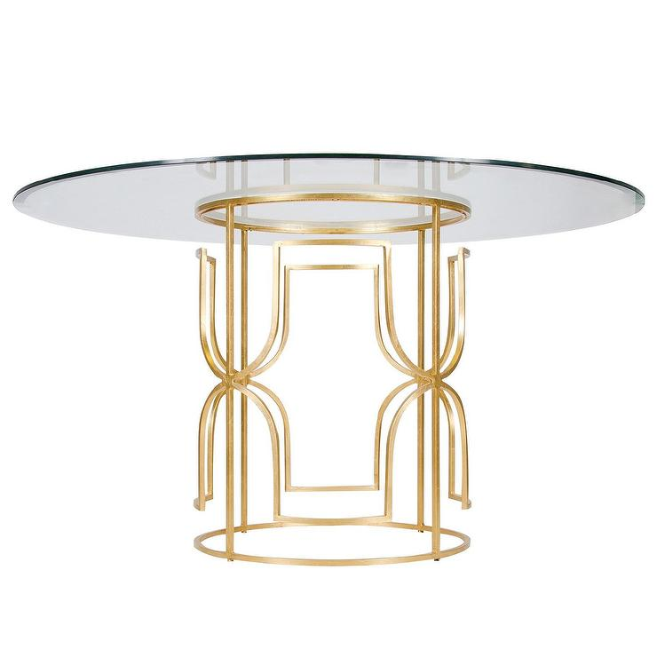Gold Dining Tables ~ Worlds away jennifer gold leaf dining table i layla grayce