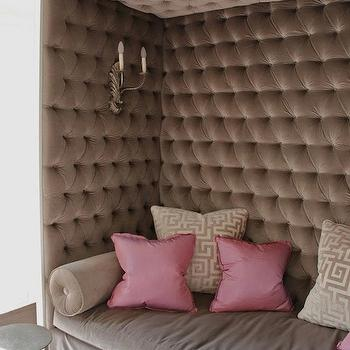 Velvet Tufted Nook, Contemporary, living room, Ruard Veltman Architecture