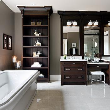 Espresso Double Vanity, Traditional, bathroom, Jane Lockhart Interior Design