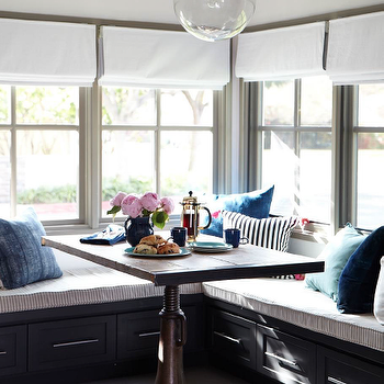 Built In Banquette, Eclectic, dining room, Eric Olsen Design