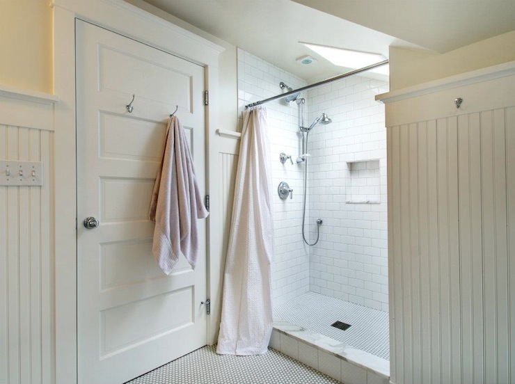 White Beadboard Bathroom Cottage Bathroom Jas Design Build