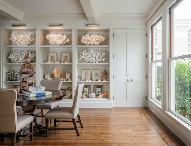Dining Room Built Ins Transitional Benjamin Moore Baby Fawn Sutro Architects