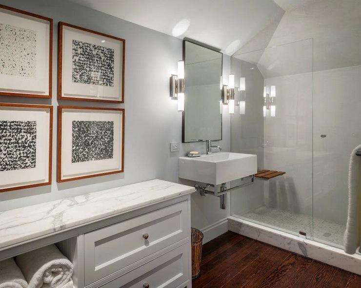 Floating sink modern bathroom sutro architects for Rv bathroom wallpaper