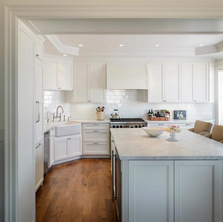 L Shaped Island With Stove Wonderful Kitchen Island With: Shaker Kitchen Cabinets