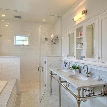 Marble Top Double Vanity, Traditional, bathroom, JAS Design Build