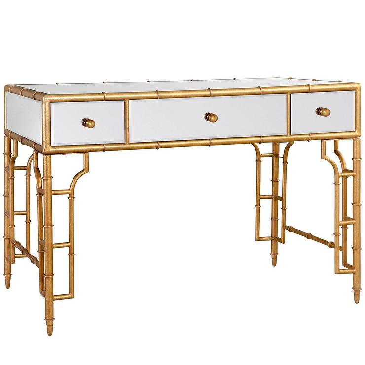 Bungalow 5 collette vanity desk gold i layla grayce for Bungalow 5 desk