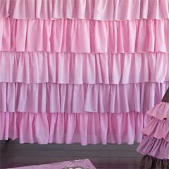 Kiss Ruffled Shower Curtain I Layla Grayce