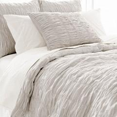 Pine Cone Hill Smocked Dove Grey Duvet Cover I Layla Grayce