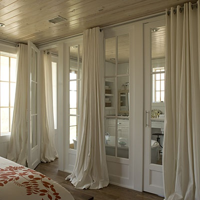 Floor to ceiling drapes design ideas for Bedroom window treatments