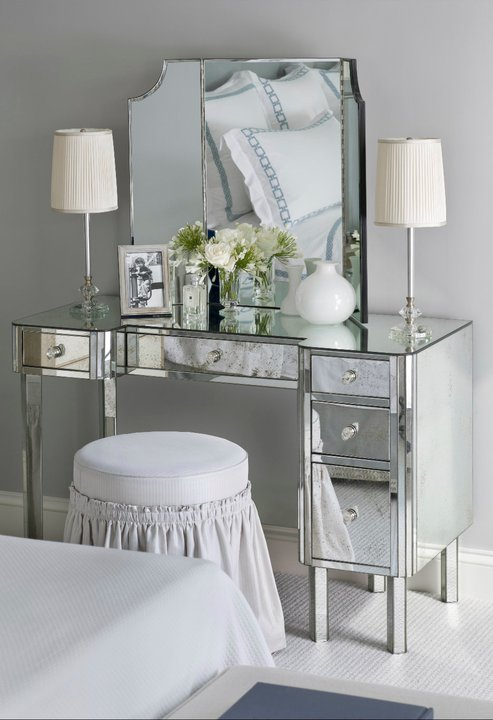 mirrored vanity - traditional - bedroom - sandra nunnerley