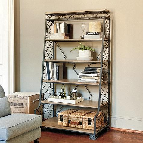 nadine metal etagere ballard designs. Black Bedroom Furniture Sets. Home Design Ideas