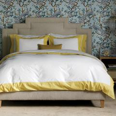 Yellow Border White Sheets