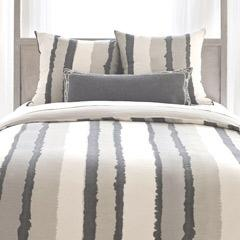 Pine Cone Hill Painted Stripes Linen Grey Duvet Cover I Layla Grayce