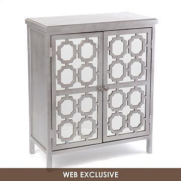 Ordinaire Gray Mirrored Door Wood Cabinet | Kirklandu0027s
