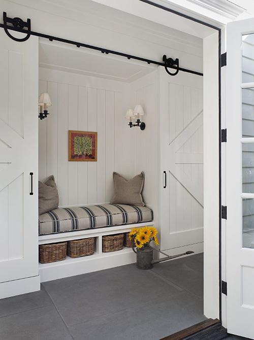 Laundry Room Sliding Barn Wood Doors Design Ideas