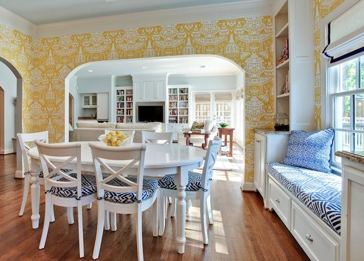 dinding kuning ruang makan