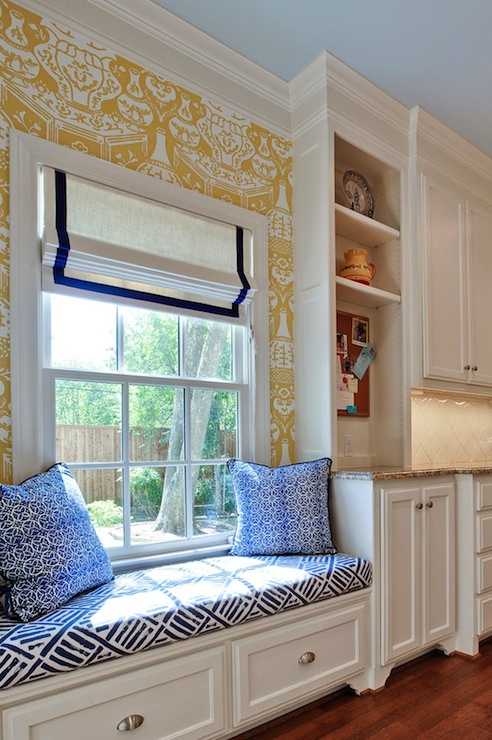 Kitchen Window Seat Transitional Kitchen House Of Fifty