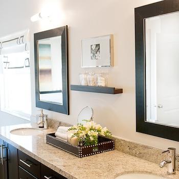 Espresso Double Vanity With Granite Countertop View Full Size. Contemporary Bathroom  Design ...