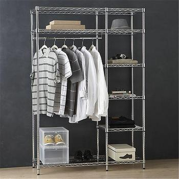 Work Closet With Dust Cover In Laundry Crate And Barrel