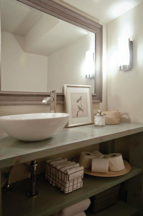 Reclaimed Wood Bathroom Vanity View Full Size