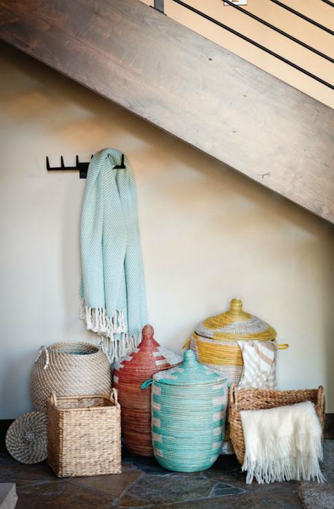 Throw Blanket Storage #31 - African Basket Hampers