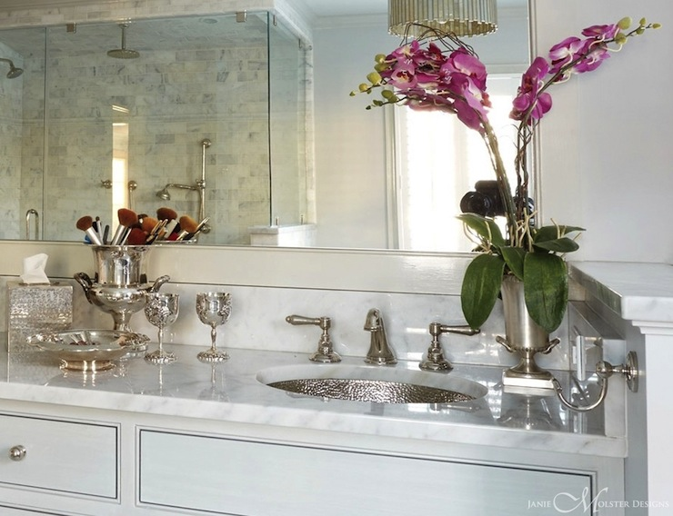 Hammered Metal Sink Traditional Bathroom Janie