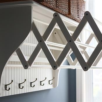 Accordion Laundry Room Hooks Design Ideas
