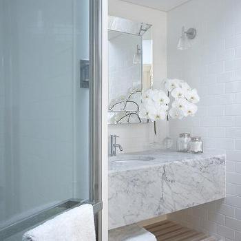 Floating Marble Vanity, Contemporary, bathroom, Burley Katon Halliday