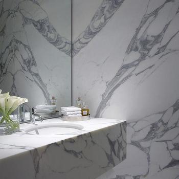 Floating Marble Sink, Contemporary, bathroom, Burley Katon Halliday