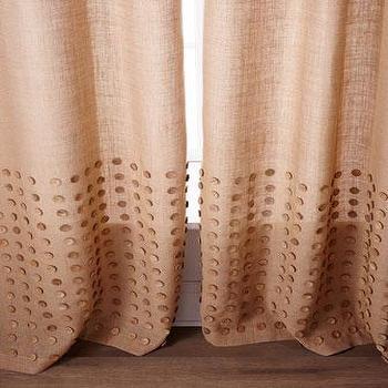 Burlap Curtain - Blue Sage - west elm