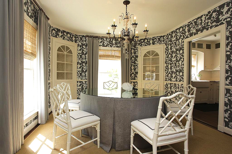 Skirted Round Dining Table Design Ideas