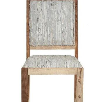 Sandstone Leather Dining Chair, Calypso St. Barth