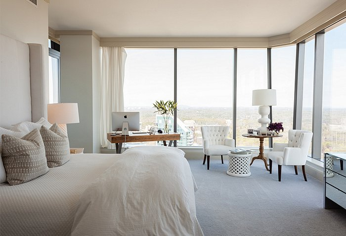 Floor To Ceiling Windows Contemporary Bedroom Pieces Inc