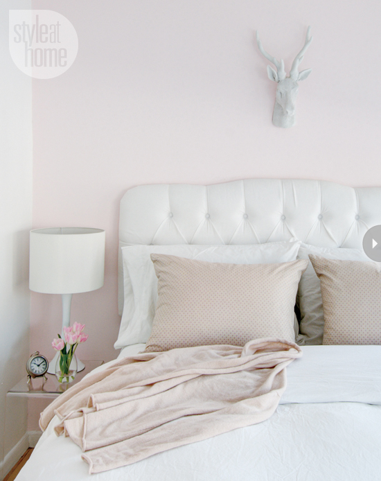 White and Pink bedroom - Contemporary - bedroom - Style at Home