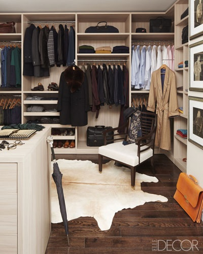Mens walk in closet design traditional closet elle decor - Mens walk in closet ...