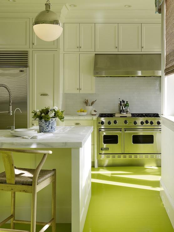 Neon Green Kitchen Floor Design Ideas