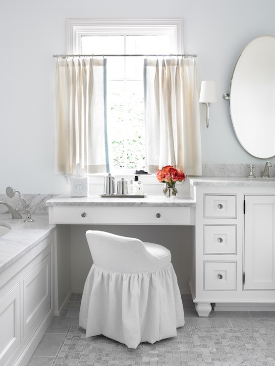 Drop Down Makeup Vanity Traditional Bathroom L Kae