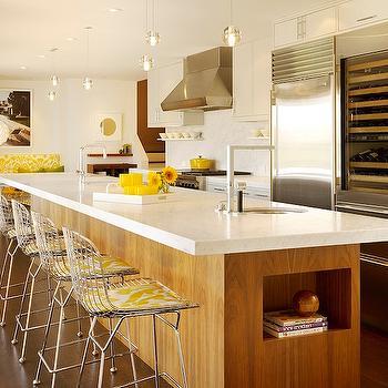 Kitchen island wine cooler transitional kitchen kitchens by