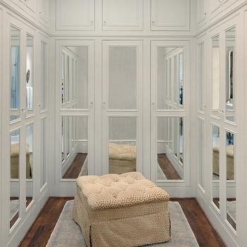 Wonderful Mirrored Doors View Full Size. Chic U Shaped Closet ...