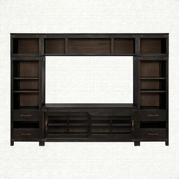 Black Large Entertainment Center Bentley Arhaus Furniture