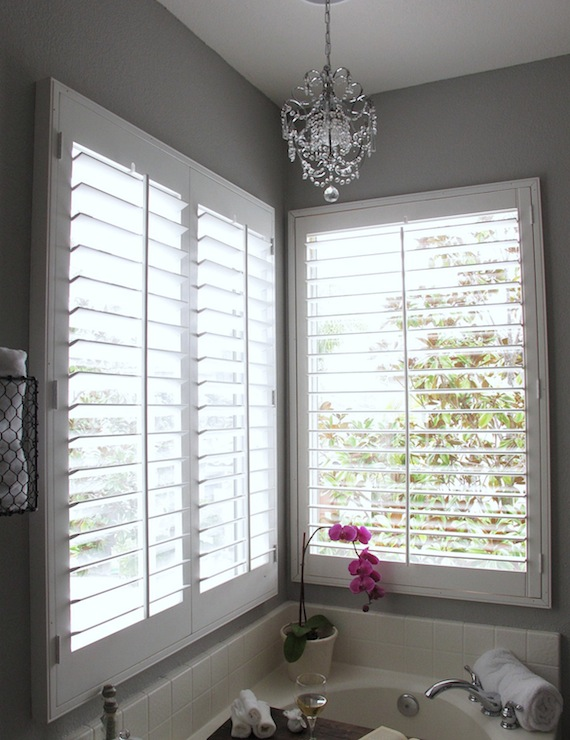 White Plantation Shutters Design Ideas