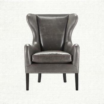 Wing Back Leather Chair, Pinot Collection, Arhaus Furniture