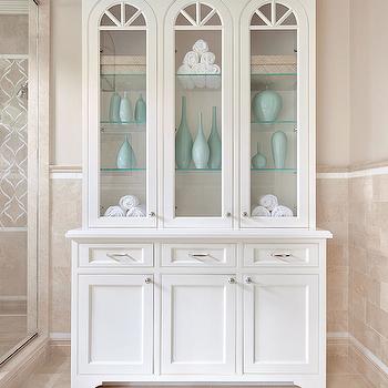 Crema Marfil Marble, Contemporary, bathroom, Benjamin Moore Natural Cream, Clean Design Partners