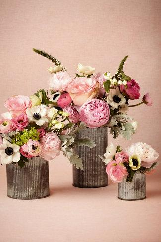 Ridged Tin Vases I Bhldn