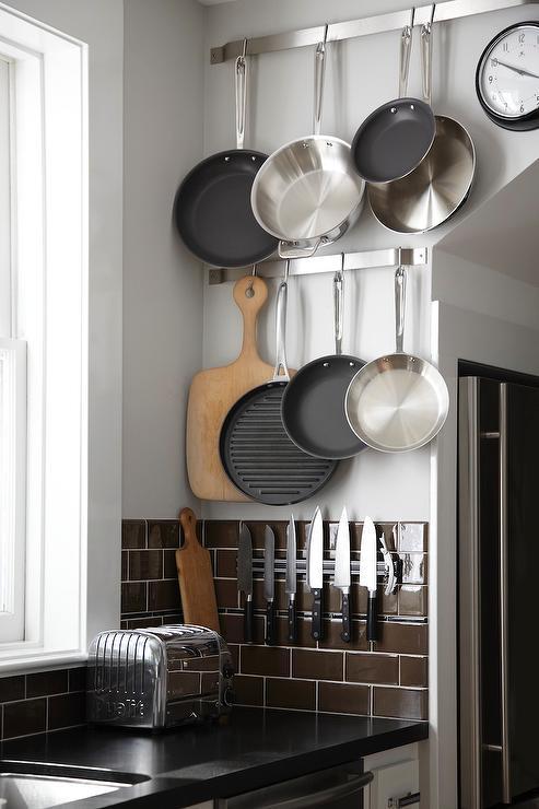 Magnetic Knife Rack - Transitional - kitchen - Urrutia Design